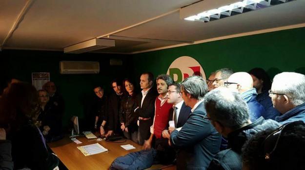 assemblea pd palermo, comunali palermo 2017, Carmelo Miceli, Fausto Raciti, Leoluca Orlando, Nadia Spallitta, Rosario Crocetta, Palermo, Politica
