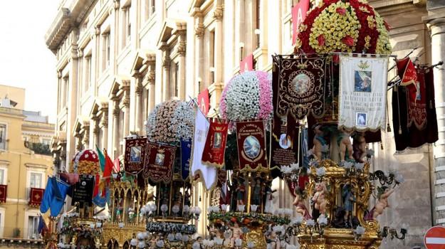 candelore catania, festa sant'agata catania, Catania, Cronaca