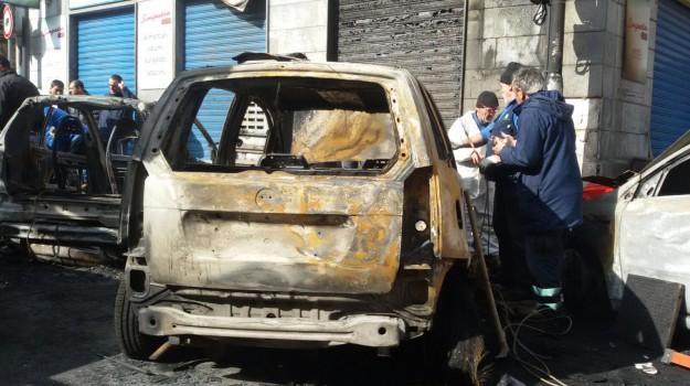 auto distrutte rogo, incendio boccadifalco, Palermo, Palermo, Cronaca