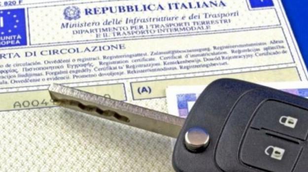 carta circolazione, libretto circolazione auto, Sicilia, Economia