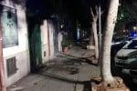 Incendio al negozio del presidente di Forza Nuova Palermo - Foto da Facebook