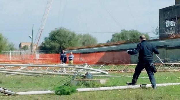 antenna, incidente, operai, Palermo, Cronaca