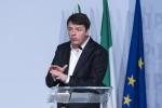 """Migranti, Renzi: """"Ci vuole un numero chiuso, non si può accogliere tutti"""""""