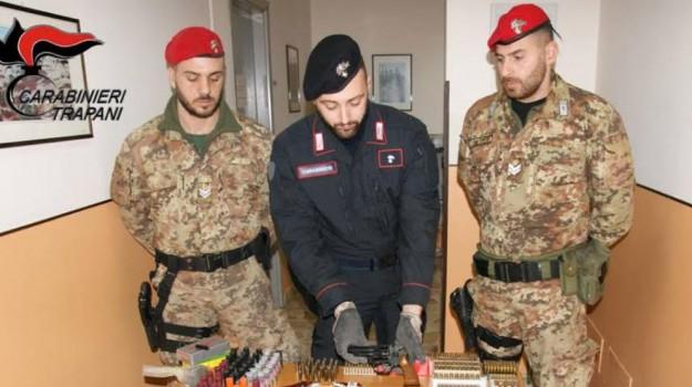 armi, marinella di selinunte, munizioni, Trapani, Cronaca