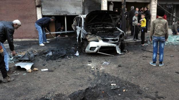 attacchi homs, attacchi suicidi siria, Sicilia, Mondo
