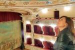 I palchetti ed il soffitto del teatro
