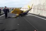 Aereo precipitato sulla Agrigento-Caltanissetta, l'incidente ripreso da un video