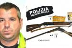 Fucili rubati e pistole trovati tra Vittoria e Ragusa, un arresto