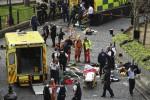 L'auto sulla folla, poi gli spari a Westminster: le immagini dell'attacco a Londra