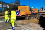 Rimosso il tir ribaltato sulla Palermo-Mazara - Video