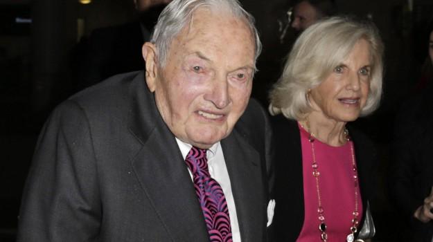 centenario, finanza, Stati Uniti, David Rockefeller, Sicilia, Mondo