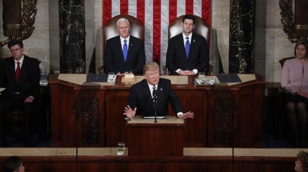 bando anti immigrati, bando bis immigrati, obamacare, primo discorso congresso, trump congresso, Donald Trump, Sicilia, Mondo
