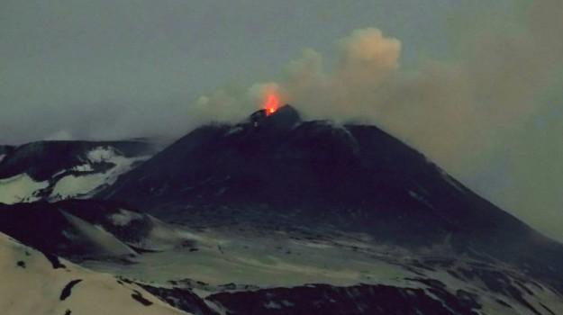 cratere vulcano, esplosione etna, etna, ingvi, Catania, Cronaca