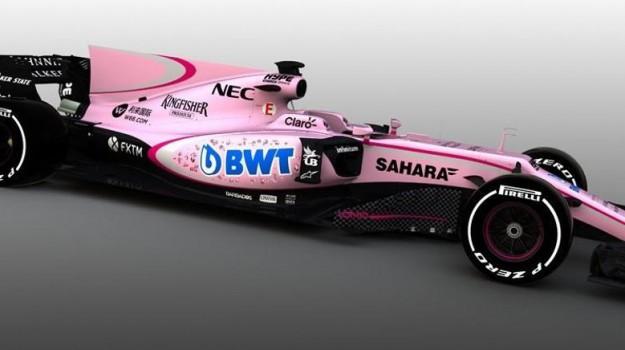 auto rosanero, Force India, formula uno, Palermo, Qui Palermo