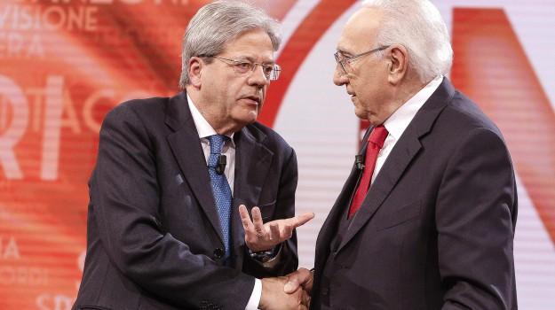 Domenica In, premier, tasse, Paolo Gentiloni, Sicilia, Politica