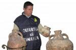 Reperti archeologici trovati in una casa sequestrata a un imprenditore di Agrigento