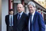 Il premier Paolo Gentiloni con il presidente di Confindustria, Vincenzo Boccia - Ansa