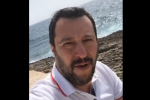 Matteo Salvini a Lampedusa - Video da Facebook
