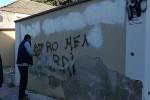"""Locri, scritte offensive contro gli """"sbirri"""" Sui muri anche insulti a don Ciotti"""