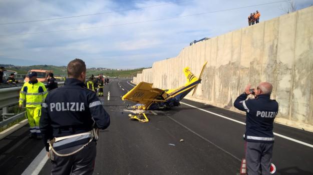 elicottero, statale 640, Agrigento, Cronaca