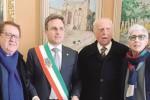 Filippo Leonte e Natalino Bonini con il sindaco Ciaccio e il consigliere Maggio