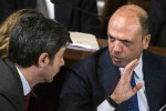 I ministri Andrea Orlando e Angelino Alfano - Ansa