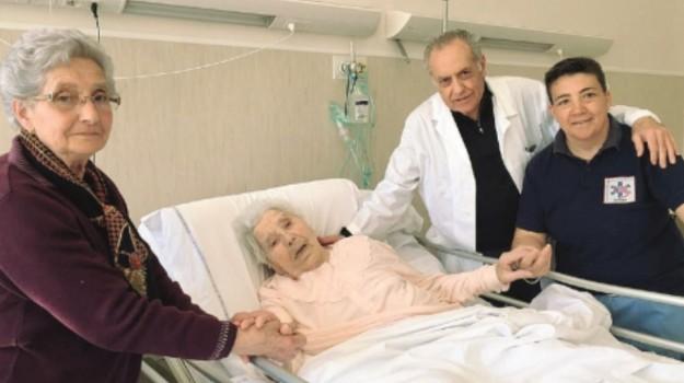 102 anni, nicosia, ospedale, Enna, Società