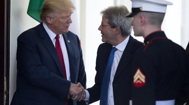 casa bianca, italia-usa, Donald Trump, Paolo Gentiloni, Sicilia, Mondo
