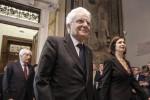 Il presidente della Repubblica Sergio Mattarella e della Camera Laura Boldrini - Ansa