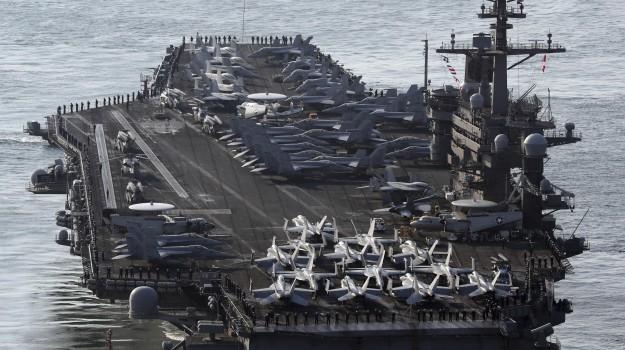 bomba atomica, corea del nord, portaerei, Stati Uniti, USA, Sicilia, Mondo