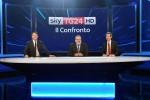 I tre candidati alla segreteria del Pd, Matteo Renzi, Michele Emiliano ed Andrea Orlando