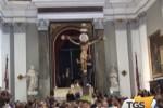 Festa del Crocifisso, folla di fedeli a Monreale