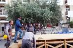 Falcone-Borsellino, operai al lavoro in via D'Amelio per la diretta su Rai 1