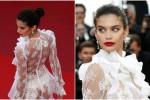Sara Sampaio, l'abito trasparente accende Cannes
