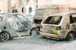 Notte di paura ad Agrigento, quattro auto in fiamme