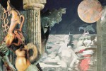 I paesaggi metafisici di Arcidiacono, disegni e collage esposti a Bronte