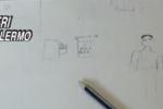 Paletta e finti agenti: in un disegno la figlia racconta il rapimento del padre