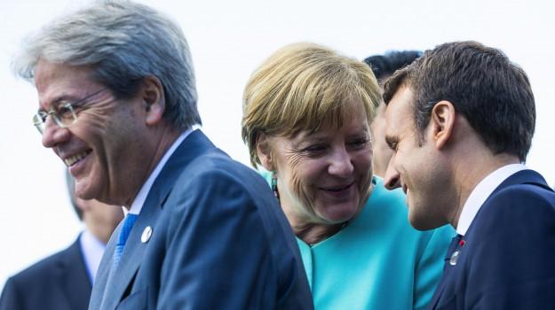 clima, g7 taormina, migranti, Angela Merkel, Donald Trump, Emmanuel Macron, Melania Trump, Paolo Gentiloni, Sicilia, Politica