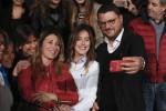 Maria Elena Boschi e Gennaro Migliore nella sede Pd