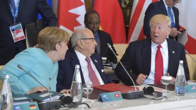 G7, germania, USA, Angela Merkel, Donald Trump, Sicilia, Mondo