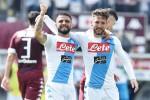 Il Napoli strapazza il Toro e mette paura alla Roma, crolla l'Inter