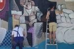 Gramsci e Lussu assieme in un murales