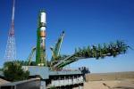 Il cargo russo Progress pronto al lancio nella base russa di Baikonur (fonte: Roscosmos)