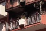 Da via dei Nebrodi le immagini dell'appartamento in fiamme