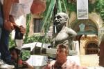 Celebrazioni per Pirandello, busto di bronzo collocato ad Agrigento