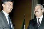 Claudio Martelli e Giovanni Falcone