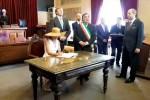 I reali d'Olanda arrivano a Palermo, le immagini della visita a Palazzo delle Aquile