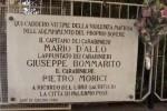 Ricordati con una cerimonia il capitano D'Aleo e i carabinieri Morici e Bommarito - Video