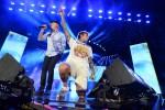 J-Ax e Fedez durante il concerto di Radio Italia Live