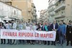 «No alle mafie», fiaccolata della legalità a Favara